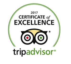 "TripAdvisor ""Certificate of Excellence"" award 2017. to Hotel President"