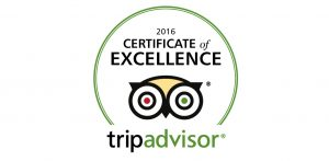 "TripAdvisor ""Certificate of Excellence"" award 2016. to Hotel President"