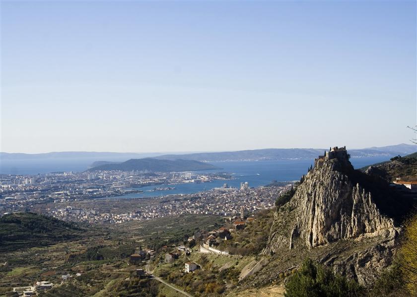 Mountain of Klis, above Split, Croatia.