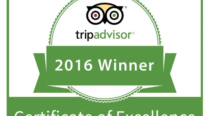 TripAdvisor Certificate of Excellence 2016. is awarded to Hotel President!