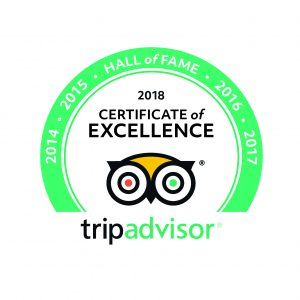 Hall of Fame for being awarded Certificate of Excellence for five consecutive years